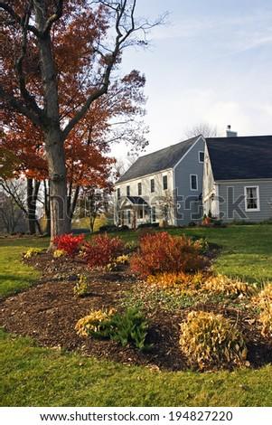 Fall in the suburbs - stock photo