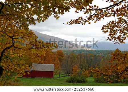 Fall in Vermont - stock photo