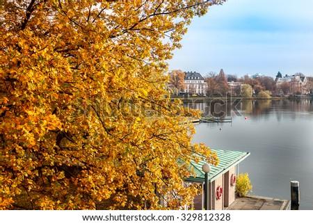 Fall of Hamburg, Germany - stock photo