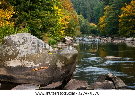 Fall River - stock photo