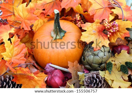 Fall season decoration for Thanksgiving or Halloween