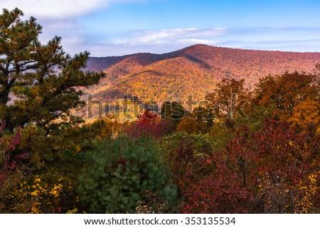Fall Season in Shenandoah National Park - stock photo