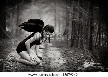 fallen angel - stock photo