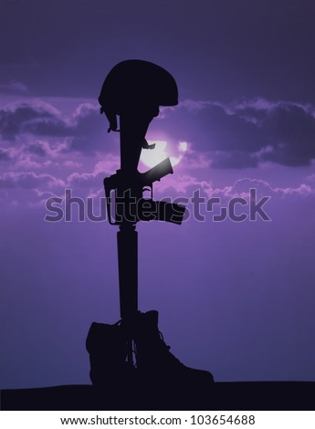 Fallen Soldier - stock photo