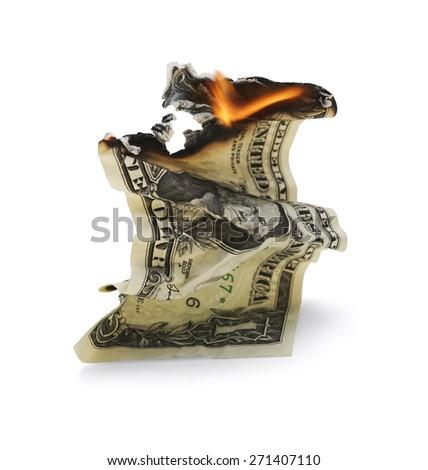 Falling Dollar - stock photo