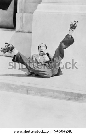 FALLING DOWN - stock photo