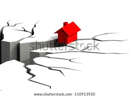 Falling Real Estate - stock photo