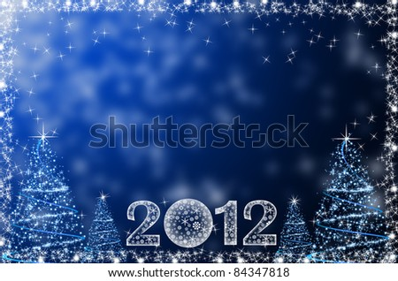 Falling snow - abstract christmas background - stock photo