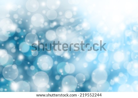 Falling snow in winter abstract background. - stock photo