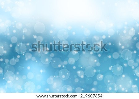 Falling snow in winter abstract background.Blue abstract background. - stock photo