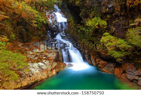 Falls Creek, Fiordland, New Zealand - stock photo