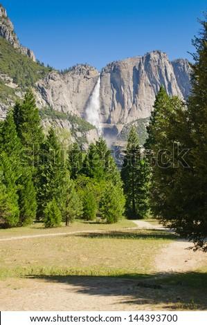 Falls in Yosemite National Park - stock photo