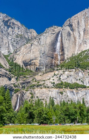 Falls in Yosemite National Park - stock photo