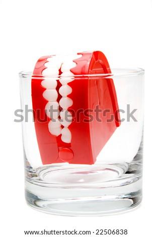 False Teeth - stock photo