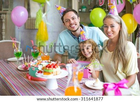 Families at a birthday party