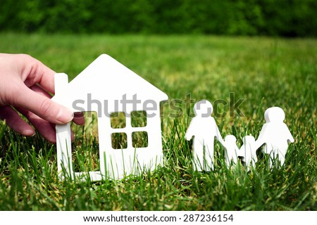 Family and house - concept image of make your house