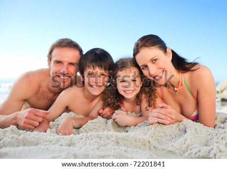 Family at the beach