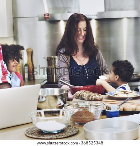 Family Bonding Activity Cooking Baking Concept - stock photo