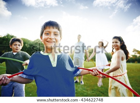 Family Bonding Happiness Lifestyle Concept - stock photo