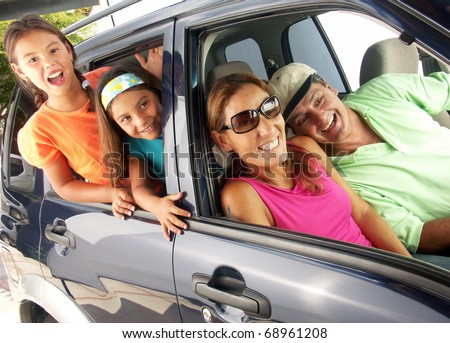 Family car travel.