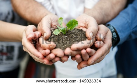 Family care about new life - stock photo