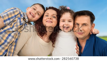 Family, Cheerful, Latin American and Hispanic Ethnicity. - stock photo