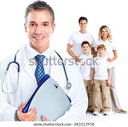 Family doctor man. - stock photo