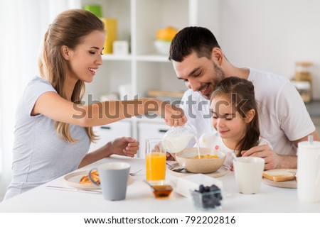 Family Eating People Concept Happy Mother Stock Photo ...