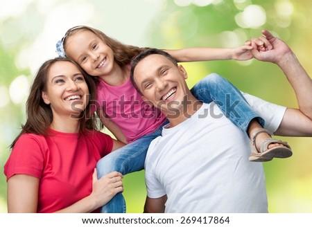 Family. Family having fun - stock photo