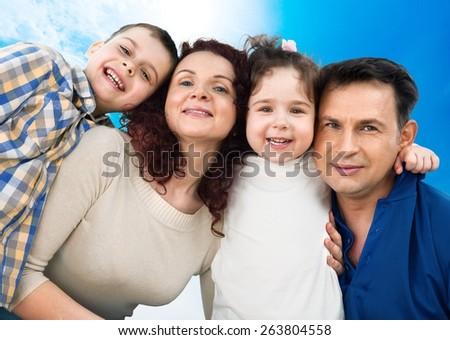 Family. Family lifestyle portrait - stock photo