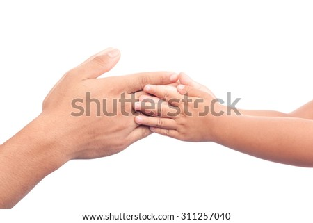 family father and child son hands