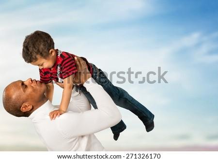 Family. Fly Boy! - stock photo