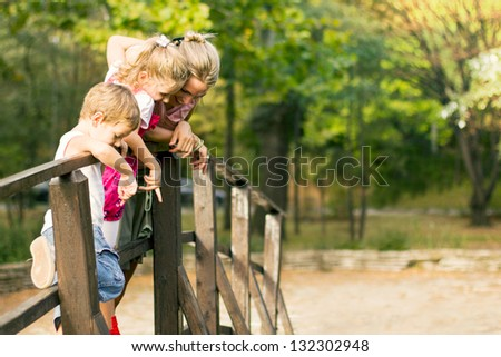 Family fun time - stock photo