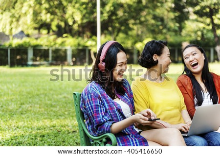 Family Generation Connection Happiness Leisure Concept - stock photo