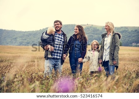 Family Generations Parenting Togetherness Field Nature