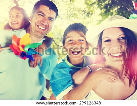 Family Happiness Parents Holiday Vacation Activity Concept - stock photo