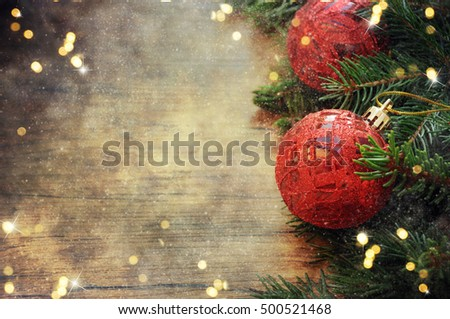 Family holiday, christmas tree background with bokeh.