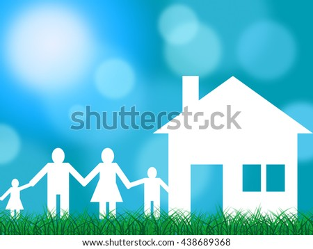 Family House Showing Parents Property And Relatives - stock photo
