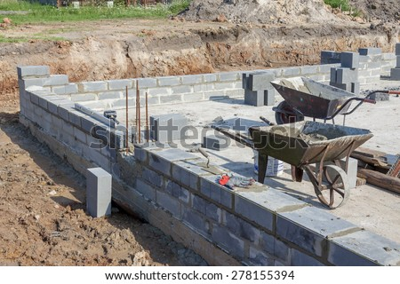 Family house under construction. - stock photo