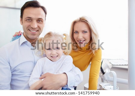 Family in a doctor's office