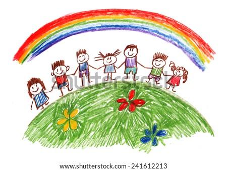 Family kids drawing stock illustration 241612213 shutterstock family kids drawing thecheapjerseys Choice Image