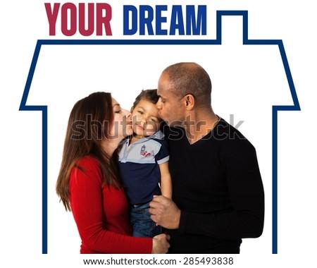 Family, Latin American and Hispanic Ethnicity, Cheerful. - stock photo