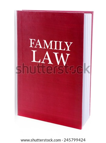 Family LAW book isolated on white - stock photo