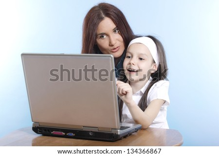 Family life series - working on laptop