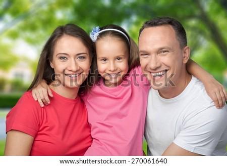 Family. Loving family - stock photo