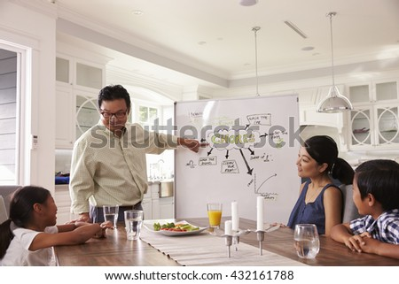 Family Meeting To Discuss Household Chores - stock photo