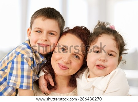 Family, Mother, Child. - stock photo
