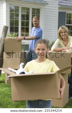 Family Moving in - stock photo
