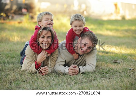 Family of Four - stock photo