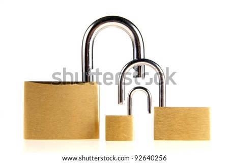 family of padlocks